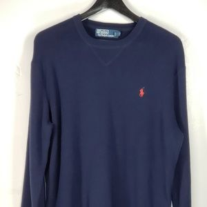 Polo by Ralph Lauren Dark Blue Mens Sweater L